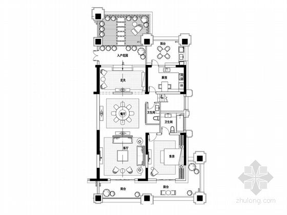[安徽]浪漫奢华法式二层别墅样板间设计方案(含实景图)