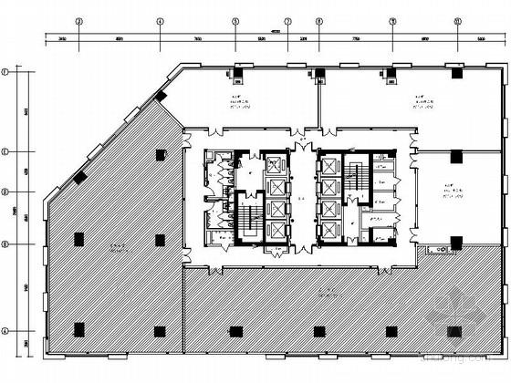 [成都]科技感十足国际5A甲级现代标准写字楼室内装修施工图(含效果)