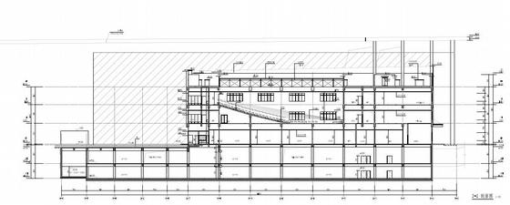 [武汉]超高层百米框架结构办公及会议中心建筑设计方案文本-超高层百米框架结构办公及会议中心建筑剖面图