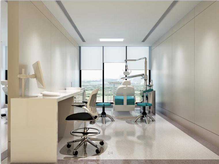 某口腔医院设计方案效果图(含3D模型)_3