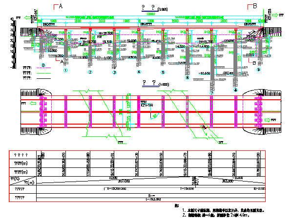 4x20+5x20双悬臂简支梁预应力后张法空心板桥设计图68张CAD