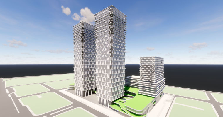 UA城的平凡建筑资料下载-天安数码城旧厂区改造项目建筑模型(2018年)