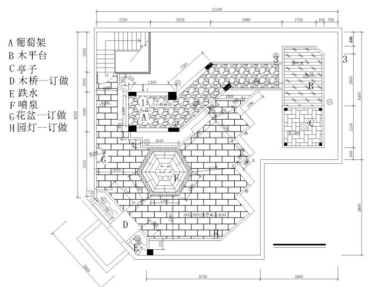 21套屋顶花园CAD施工图(11)