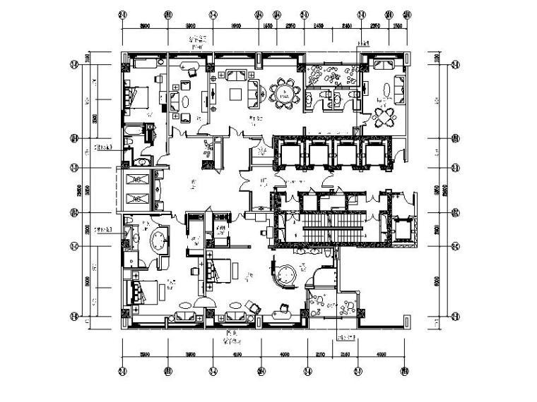 [成都]精装公寓豪华套房设计施工图(含效果图)