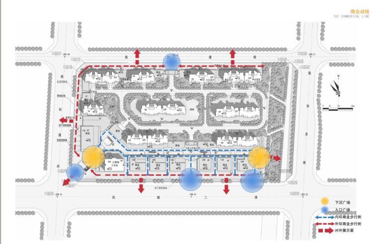 高层现代artdeco风格优质高端点式住宅楼建筑分析图