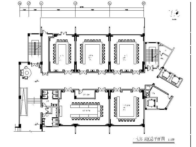 [成都]原生态中式风格茶坊室内设计施工图(含效果图)