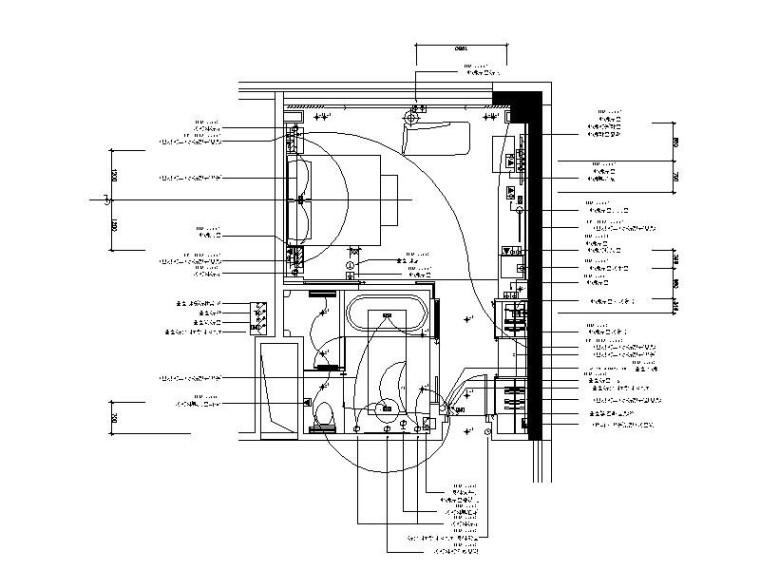 [大连]豪华五星级酒店样板房室内设计施工图