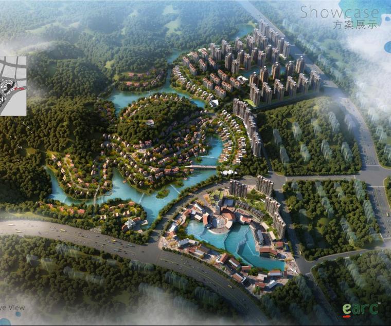 [深圳]新中式风格大退台空间式特色小镇建筑方案文本
