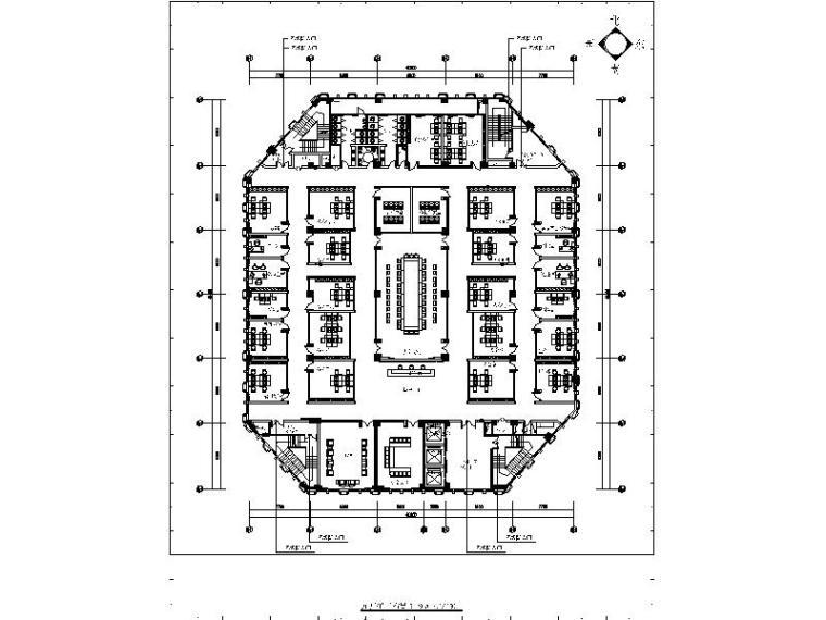 [深圳]基金管理公司办公楼设计施工图(含效果图)