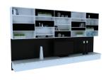 现代电视墙组合柜3D模型下载