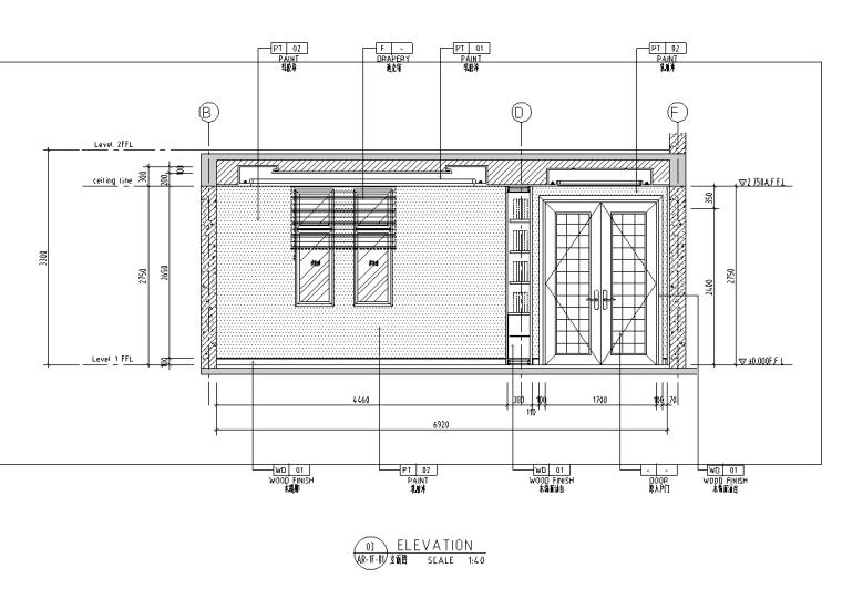 [安徽]池州某两层别墅室内装修施工图及效果图