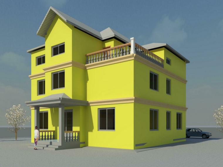 BIM模型-revit模型-三层Revit别墅模型