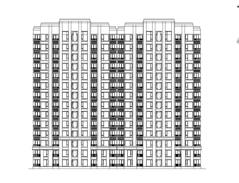 [上海]普陀区上粮欧陆风格居住区建筑施工图设计