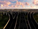 [讲义总结]城北主干道及机场高速互通立交工程项目简介三维动画