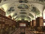 欧式图书馆3D模型下载