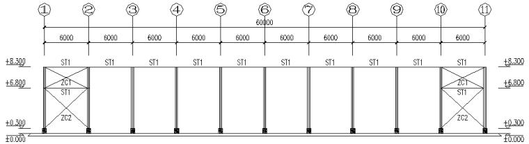 重庆60*90刚架结构施工图_2