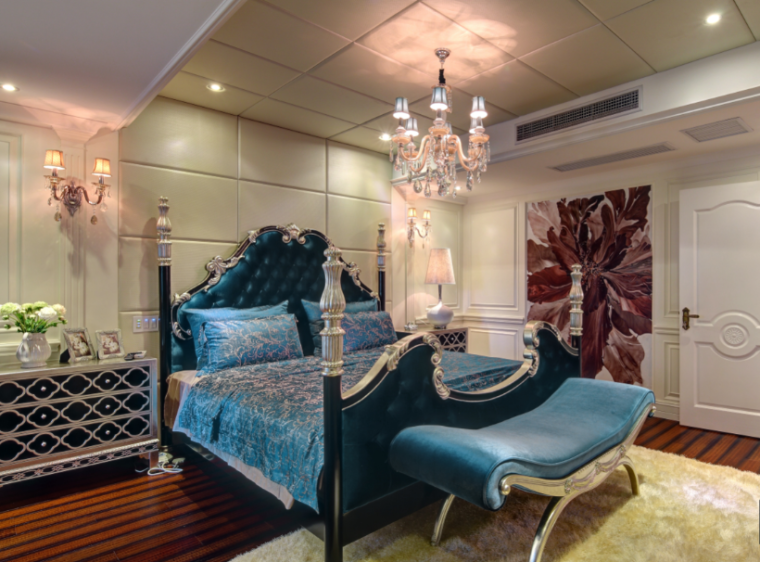 新古典主义卧室效果图