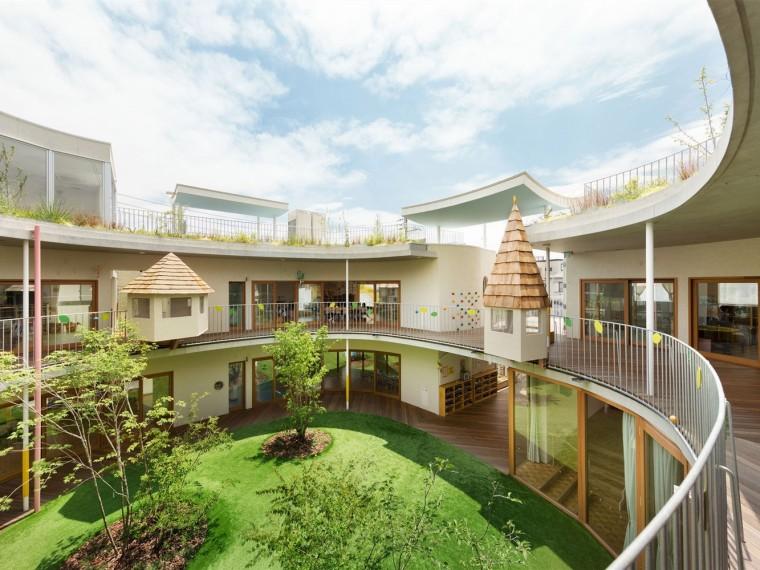 日本密集厂区改建庭院幼儿园