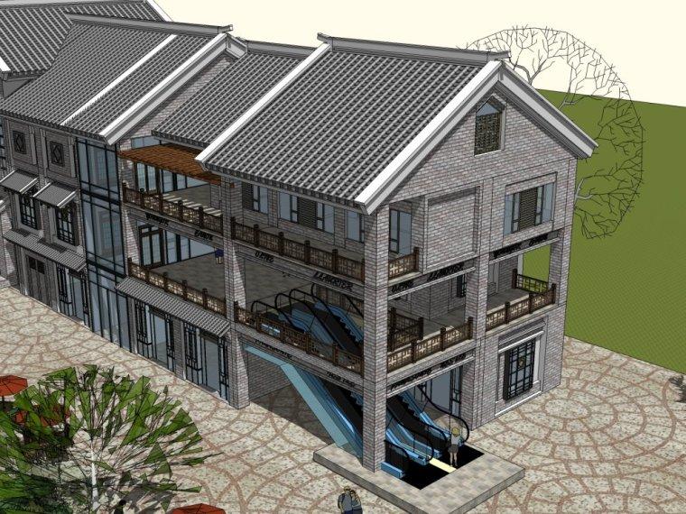商业街中式风格三层建筑方案设计(SU模型)-20150805_223509_065
