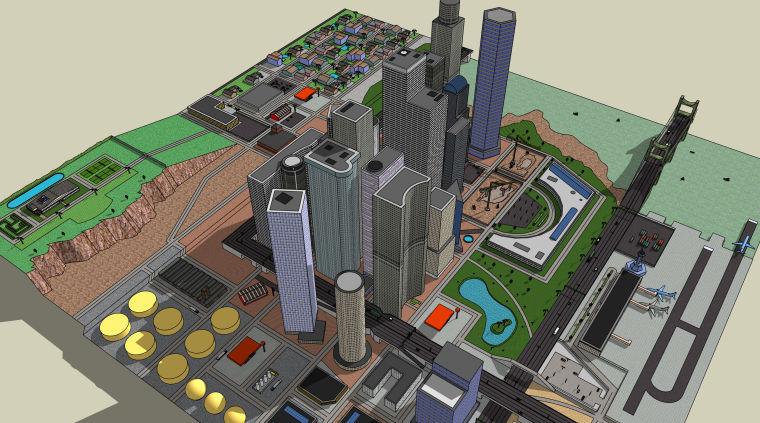 商品住宅房建筑设计模型