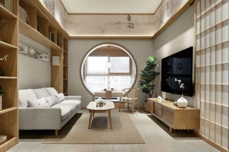 105㎡平米原木佛系日系家居风格家装设计方案