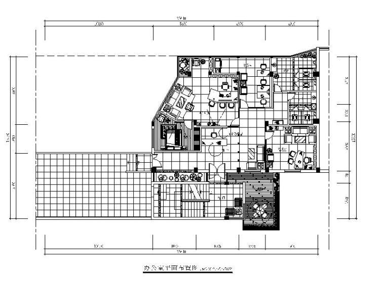 [福建]某贸易有限公司办公楼CAD施工图(含效果图)