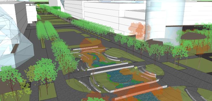[上海]现代风格自然生态大学校园景观规划设计方案_4