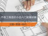 【限时6折】市政工程造价小白入门实操讲解(识图+工程量计算+组价)