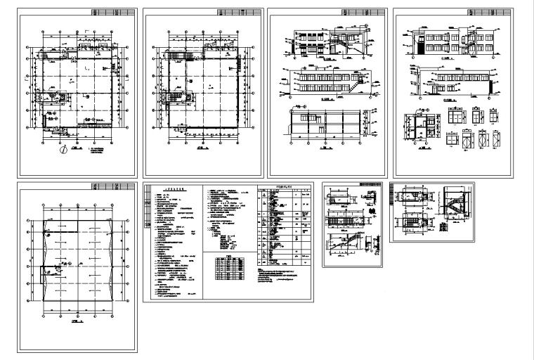 某大学综合食堂建筑设计施工图CAD-某大学综合食堂建筑设计施工图