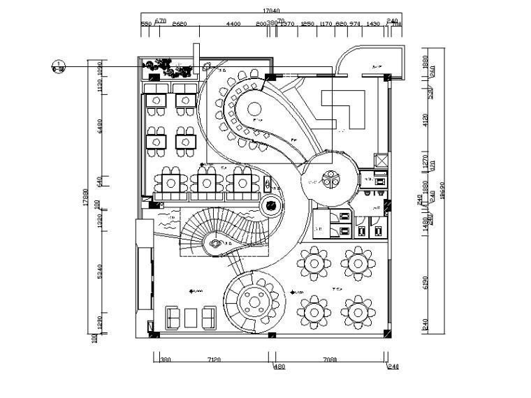 [重庆]全套现代风格双层火锅酒楼CAD施工图(含效果图)