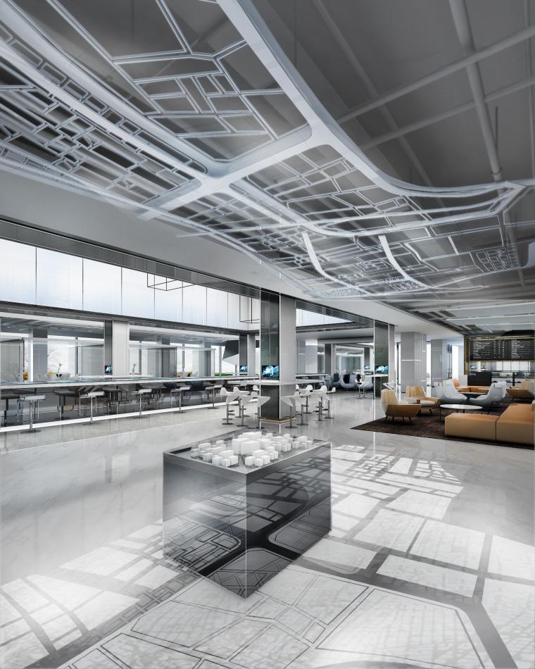 [上海]知名地产御河硅谷售楼空间设计施工图(附效果图+软装方案)-模型区