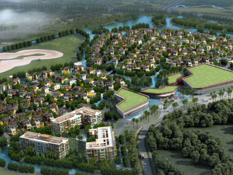 [广东]三亚椰风路项目概念景观设计(PDF+81页)-鸟瞰