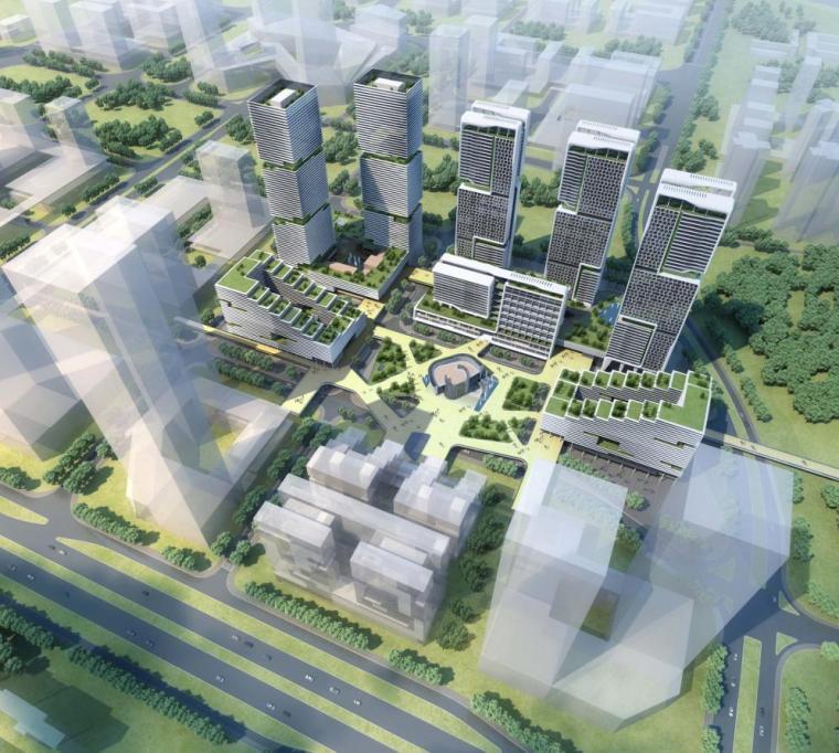 [深圳]小高层线条型立面研发办公楼建筑方案文本(含CAD及视频)