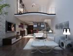 现代复式客厅3D模型下载