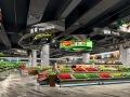 长沙超市装修设计效果图等创新化商场设计方案