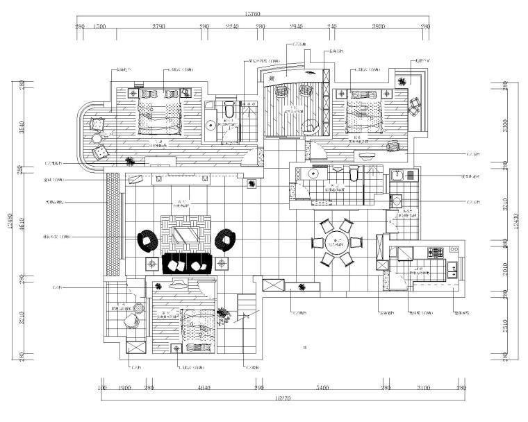 [海南]现代风格二层小别墅设计室内装修施工图