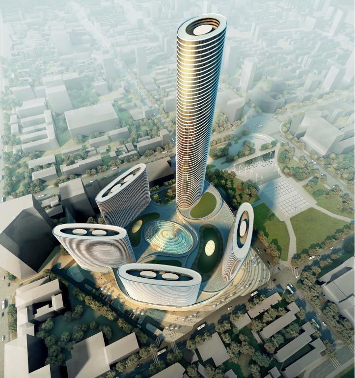 [浙江]超高层现代风格螺旋状商业综合体建筑设计方案文本