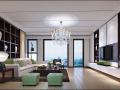 新中式家装设计方案效果图(含3D模型)