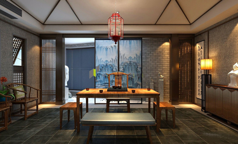 济南新中式风格的办公空间-5