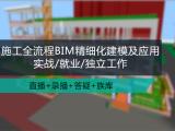 施工全流程BIM精细化建模及应用实战/就业/独立工作