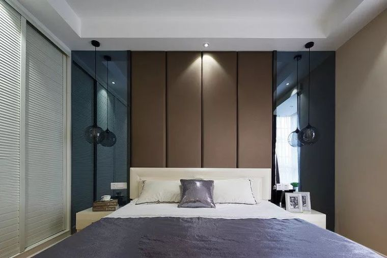 卧室背景墙别放空,这样设计美极了!_19