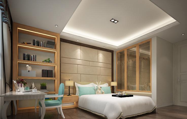 [广东]中式风格样板房设计CAD施工图(含效果图)-【广东】中式风格样板房设计CAD施工图(含效果图)效果图