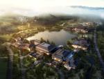 新中式风格多层酒店建筑设计方案文本