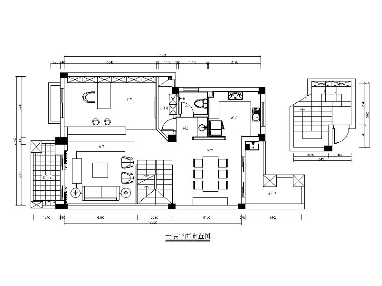 [福建]现代风格复式楼设计CAD施工图(含效果图)