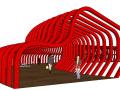 创意景观廊架设计su模型(12个)