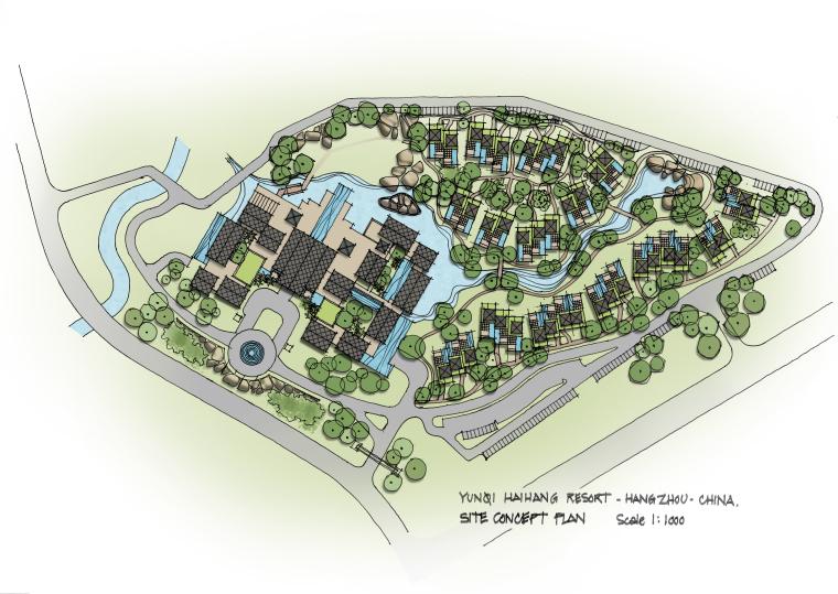CCD杭州海航酒店概念设计方案(平面、景观设计方案)