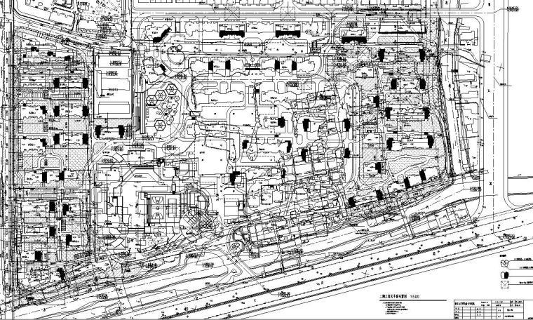 [广东]山水人家景观施工图设计(包含210个CAD+现场照片)-总平面图