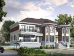 单家独院式别墅建筑设计(包含效果图+CAD)