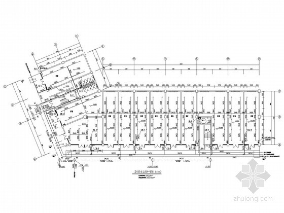 [浙江]多户型联排别墅群建筑排水施工全套图纸(含跃层 商业建筑)