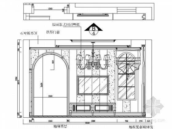 [石家庄]综合性社区典雅欧式复式装修图(含实景)主卧立面图